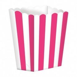 5 Contenitori Popcorn Fucsia 9x13 cm