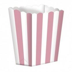 5 Contenitori Popcorn Rosa 9x13 cm