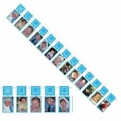 Festone Foto Azzurro 1° Compleanno 365 cm