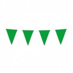 Festone Bandierine Verde 10 mt