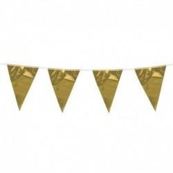 Festone Bandierine Oro Metal 10 mt