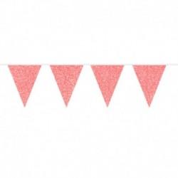 Festone Bandierine Rosso Glitter 6 mt