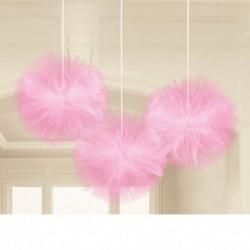 3 Fluffy Tulle Rosa 30 cm