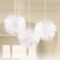 3 Fluffy Tulle Bianco 30 cm