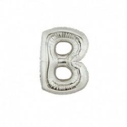 Pallone Lettera B Argento 20 cm