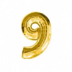 Pallone Numero 9 Oro 40 cm
