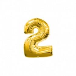Pallone Numero 2 Oro 20 cm