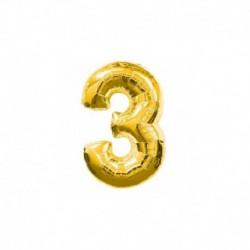 Pallone Numero 3 Oro 20 cm