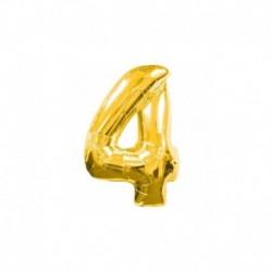 Pallone Numero 4 Oro 20 cm