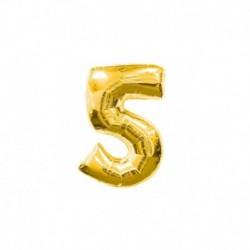 Pallone Numero 5 Oro 20 cm