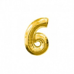 Pallone Numero 6 Oro 20 cm