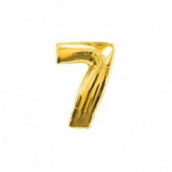 Pallone Numero 7 Oro 20 cm