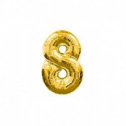 Pallone Numero 8 Oro 20 cm