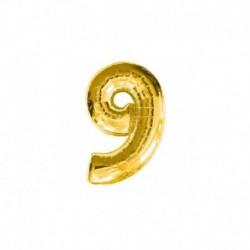 Pallone Numero 9 Oro 20 cm