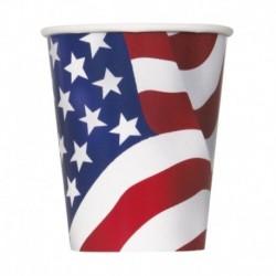 8 Bicchieri Carta USA 266 ml