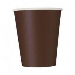 8 Bicchieri Carta Marroni 266 ml