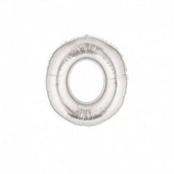 Pallone Lettera O Argento 20 cm