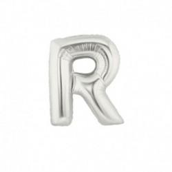 Pallone Lettera R Argento 20 cm