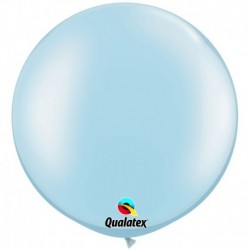 Pallone Qualatex Pearl Light Blue 80 cm