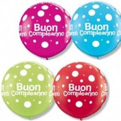 Pallone Buon Compleanno 80 cm
