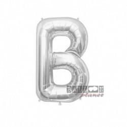 Pallone Lettera B Argento 40 cm