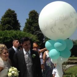 Decorazione Colonna Esplosiva Matrimonio