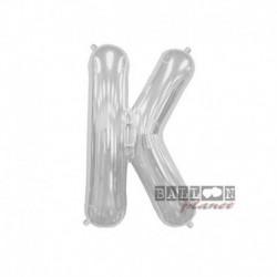 Pallone Lettera K Argento 40 cm