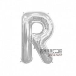 Pallone Lettera R Argento 40 cm