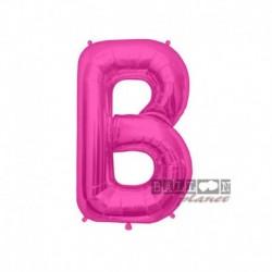 Pallone Lettera B Fucsia 40 cm