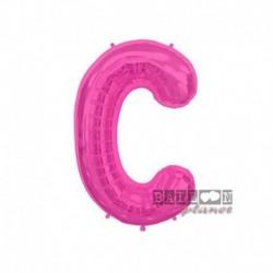 Pallone Lettera C Fucsia 40 cm