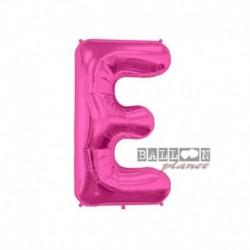 Pallone Lettera E Fucsia 40 cm