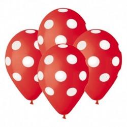 Palloncini Pois Rossi 30 cm