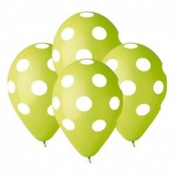 Palloncini Pois Verdi 30 cm