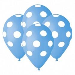 Palloncini Pois Azzurri 30 cm