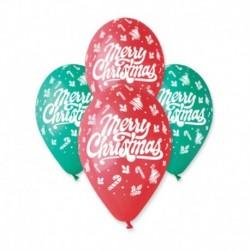 Palloncini Merry Christmas 30 cm