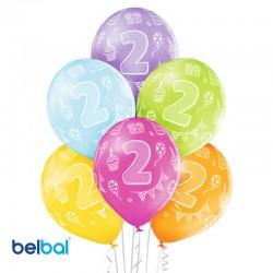 Palloncini Secondo Compleanno 30 cm