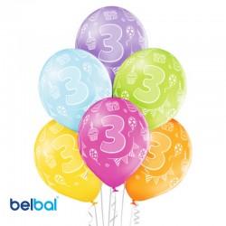 Palloncini Terzo Compleanno 30 cm