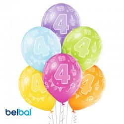 Palloncini Quarto Compleanno 30 cm