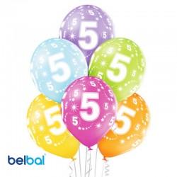 Palloncini Quinto Compleanno 30 cm