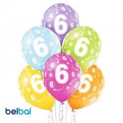 Palloncini Sesto Compleanno 30 cm