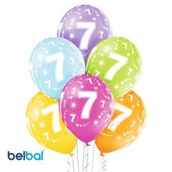 Palloncini Settimo Compleanno 30 cm