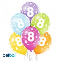 Palloncini Ottavo Compleanno 30 cm