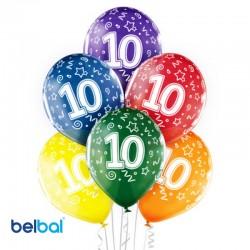 Palloncini Decimo Compleanno 30 cm