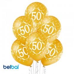 Palloncini 50th Anniversario 30 cm