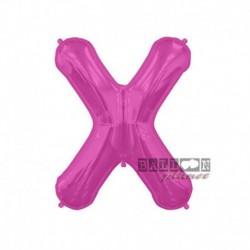 Pallone Lettera X Fucsia 40 cm