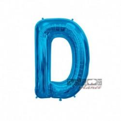 Pallone Lettera D Blu 40 cm