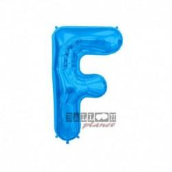 Pallone Lettera F Blu 40 cm