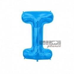 Pallone Lettera I Blu 40 cm