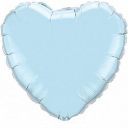 Pallone Cuore Jumbo Azzurro 80 cm