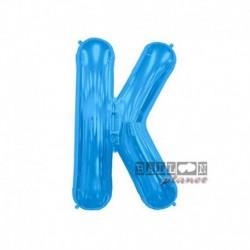 Pallone Lettera K Blu 40 cm